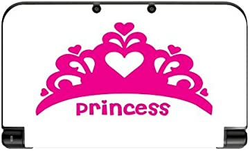 Princess Crown Hot Pink Tiara Vinyl Decal Sticker Skin by Moonlight Printing for New 3DS XL 2015
