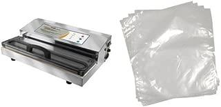 Weston Pro-2300 Stainless Steel Vacuum Sealer and Weston 8-by-12-Inch Vacuum-Sealer Food Bags, 100 Count Bundle