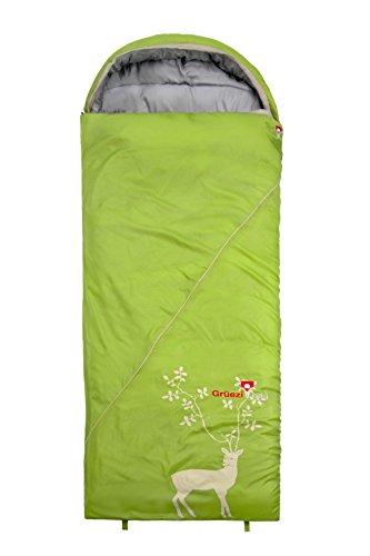 Grüezi+Bag Erwachsene Deckenschlafsack Cloud Decke Reh RV Links, Grün, 33 x 16 x 16 cm