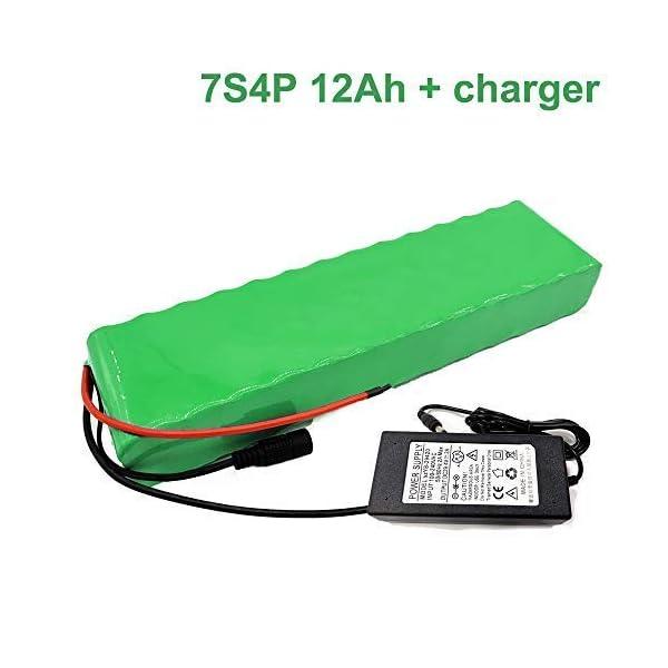 414rU5wxumL. SS600  - Seilylanka Mit Ladegerät 24V 12Ah 25.9V Li-ion Akku E-Bike Elektrofahrrad 7S4P 38x68x260mm Batterie
