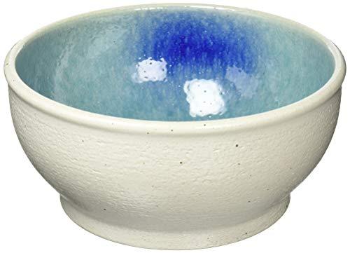 カミハタ 水槽 信楽焼めだか鉢 ホワイト/ブルー