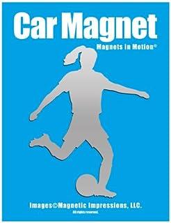 Soccer Player Female Car Magnet