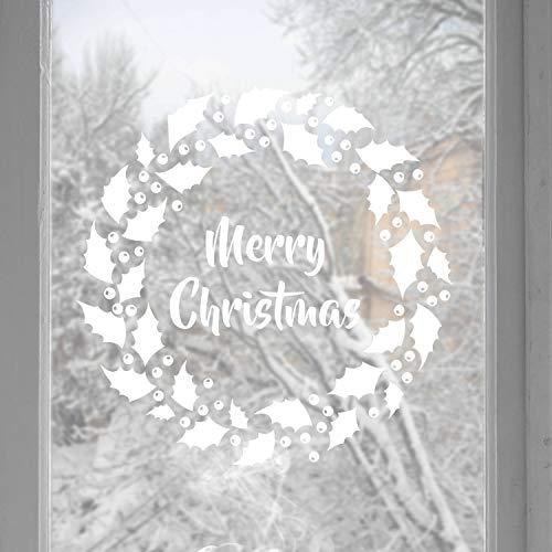 Adesivi natalizi per finestre o pareti, decalcomanie per finestre, decorazioni per la casa, fiocchi di neve, adesivi natalizi per finestra, decorazioni natalizie