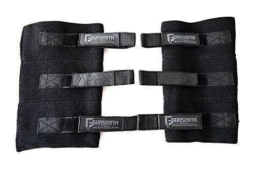 Gunsmith Fitness Apex Ellbogenbandage, vollständig verstellbar, doppelschichtig, für Unterstützung und Schutz, Gewichtheben, Powerlifting, Strongman, Kniebeugen (XL)