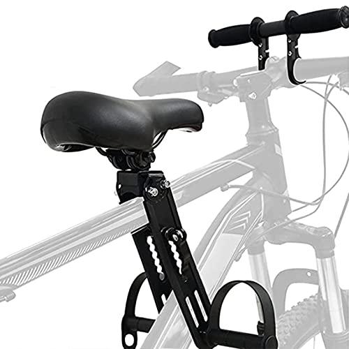 Asiento de bicicleta para niños para bicicleta de montaña, con manillar, asiento delantero montado, portátil, desmontable, para niños de 2 a 5 años