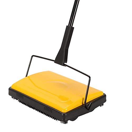 Xianggujie Teppichboden Kehrmaschine Reiniger for Home Office Teppiche Vorst Teppiche Staub Schrotte Papier Reinigung mit Bürste (Color : Yelllow)