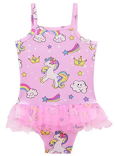 Monissy Verano Niña Infantil Unicornio Trajes Baño