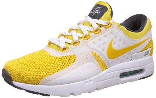 Nike Air MAX Zero QS, Zapatillas de Running para Hombre, Blanco/Negro (White/Vvd Slfr-Spc Bl-Anthrct), 48 1/2 EU