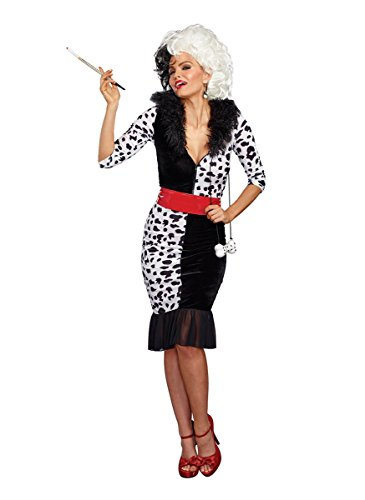 Dreamgirl Women's Dalmatian Diva, Black/White, L - http://coolthings.us