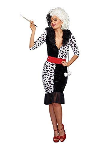 Dreamgirl Women's Dalmatian Diva, Black/White, L