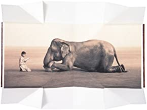 Boy reading to elephant (fold out book) (Ashes and Snow Posters)