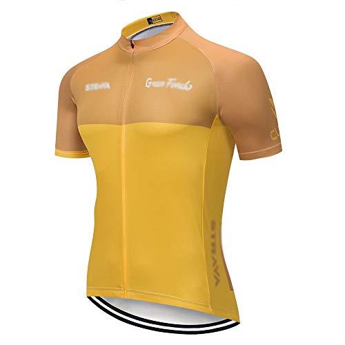 Radtrikot Strava Radsport Trikot Kurzarm Set Trikot Ciclismo schnell trocknend Uniformen Fahrrad Kleidung Trikot MTB (Farbe: C14, Größe: XS)