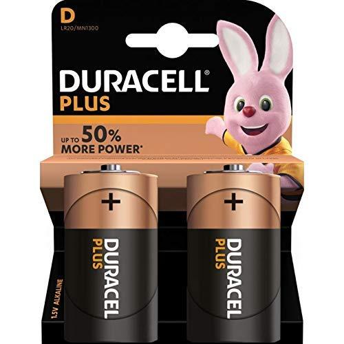 Duracell - Batterie D - 2 pezzi