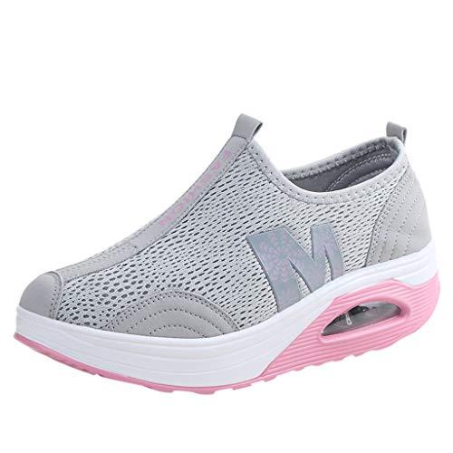 URIBAKY Damen Casual Joggingschuhe-Trainingsschuhe-Plateauschuhe Sneaker für Frauen Laufschuhe Atmungsaktiv Turnschuhe,Schnürer Sportschuhe Sneaker,Fitnessschuhe Mesh Air Outdoor