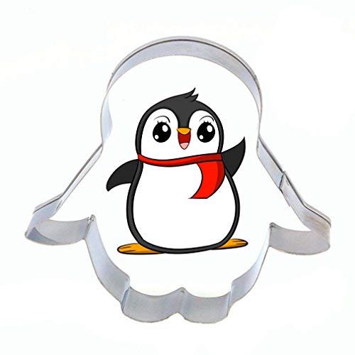 Demarkt Edelstahl Ausstechform Ausstecher Kuchen Plätzchen Keksausstecher Ausstecherform Biskuitform Pinguin Backartikel (2PCS)