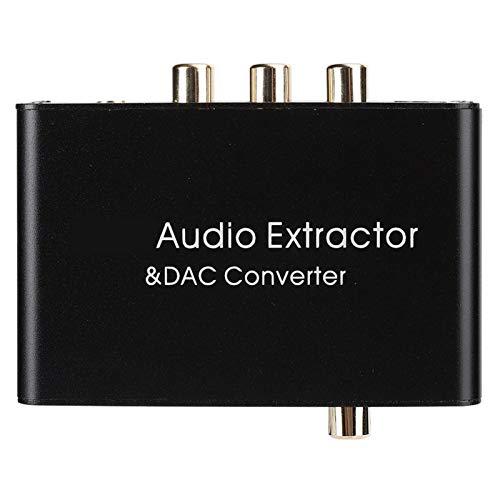 minifinker Convertidor HDMI estéreo analógico Signa, para la enseñanza, la ocasión de la reunión, para el Cine en casa(Black)