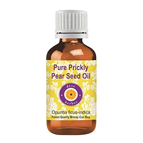 Deve Herbes Aceite puro de semilla de higo chumbo (Opuntia ficus-indica) Grado terapéutico 100% natural 15 ml (0,50 oz)