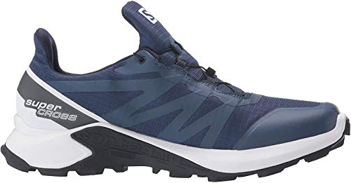 Salomon Men's Supercross GTX Trail Running Shoes, Sargasso Sea/White/India Ink, 9