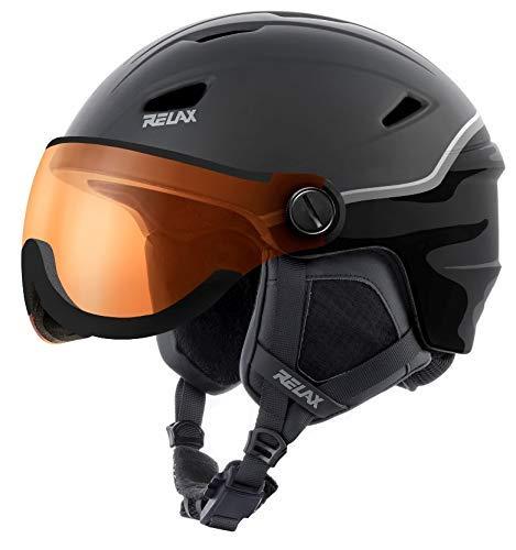 RELAX Stealth Casque de Ski avec visière | Casque...