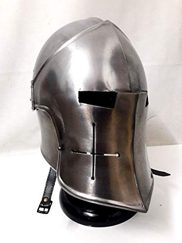 antiquegifts2019 Medival Barbuta Helm Knights Templar Crusader Armour Helm (Stahl)