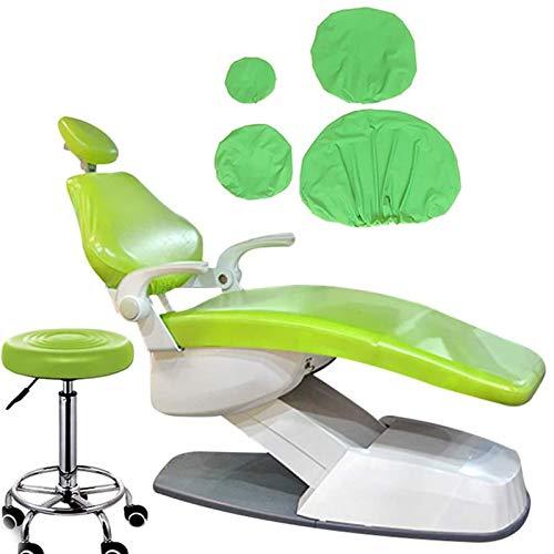 BIUYYY 4 Teile/Satz PU-Leder Dental Stuhl Sitzbezug Elastische wasserdichte Schutzhülle Kopfstütze Rückenlehne Schutz Zahnarzt Ausrüstung