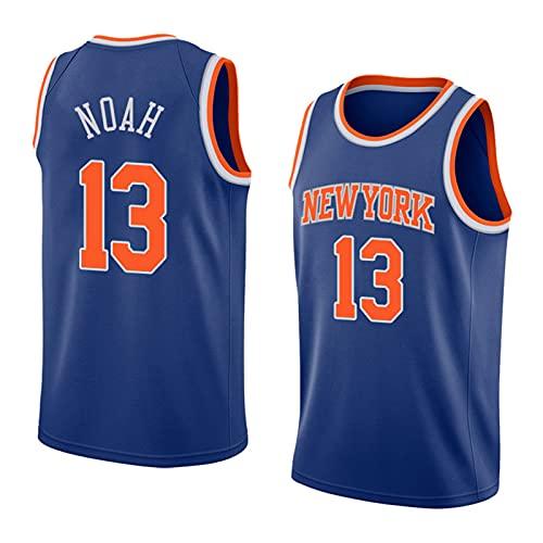 FHXY Noah Knicks # 13 Jersey de Baloncesto, Camiseta de algodón de Malla Bordada, Tela Retro Fresca y Transpirable Jersey All-Star XXL