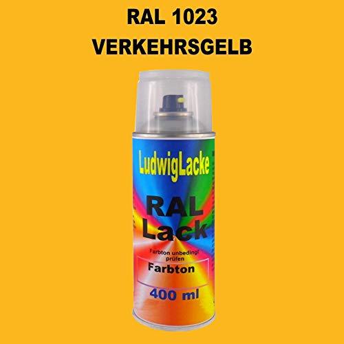 RAL 1023 VERKEHRSGELB Seidenmatt 400 ml 1K Spray