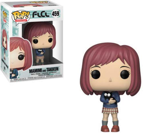 Funko Pop! Animation: FLCL - Mamimi with Takkun Black Cat Toy, Multicolor