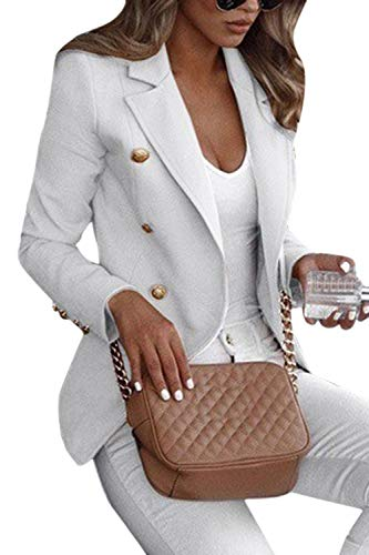 Yulinge Mujeres Chaquetas de Trabajo Abrigo OL Outfit Classic Plus Size Short Jacket Outwear