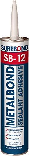Surebond Metal Bond Sealant, 10.3 oz, Gray (SB-12 T Gray)