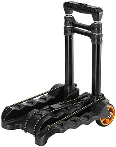WXking Carro de equipaje pesado con cuatro ruedas Carrito plegable portátil Carrito de aleación de aluminio Carretilla de aleación telescópica Cartco plegable de la mano (hasta 150 libras) Adecuado pa