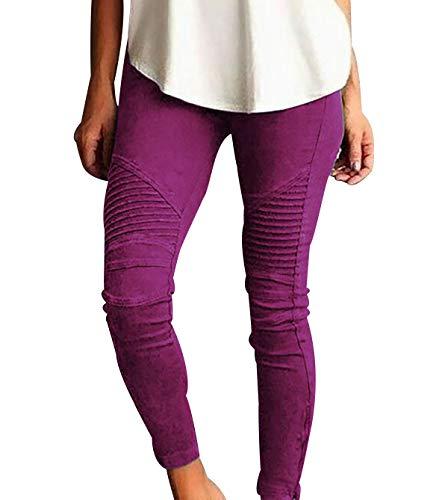 Pantalones Anchos Mujer Pantalones Rectos Mujer Pantalon Trabajo Mujer Pantalones Mujer Invierno Pantalon Impermeable Mujer Pantalones Chándal Mujer Pantalon Ancho Mujer Pantalones Púrpura 3XL