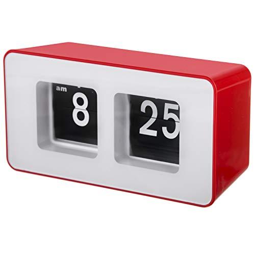 CAMRY CR1131r Flip Uhr, Stoff, Rot, 18,2 x 9,8 x 7,8 cm