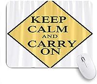 NIESIKKLAマウスパッド 落ち着いて言葉を持ち続ける ゲーミング オフィス最適 高級感 おしゃれ 防水 耐久性が良い 滑り止めゴム底 ゲーミングなど適用 用ノートブックコンピュータマウスマット