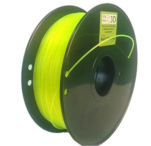 3D Printer Filament PLA 3mm - Flourescent Yellow - 1Kg - Reprap 3.00mm