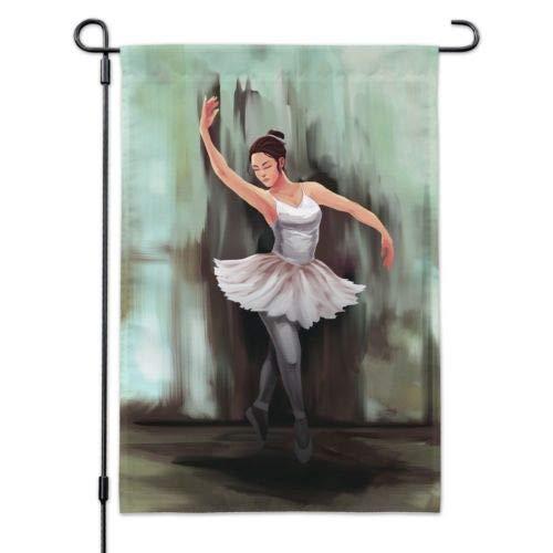 Dom576son Seizoensgebonden Tuinvlag, 12 x 18 Inch Outdoor vlag, Tuin Banner, Ballerina Schilderij Tuinwerf Vlag