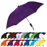 STROMBERGBRAND UMBRELLAS Spectrum Popular Style 15' Automatic Open Umbrella Light Weight Travel Folding Umbrella for Men and Women, (Purple)