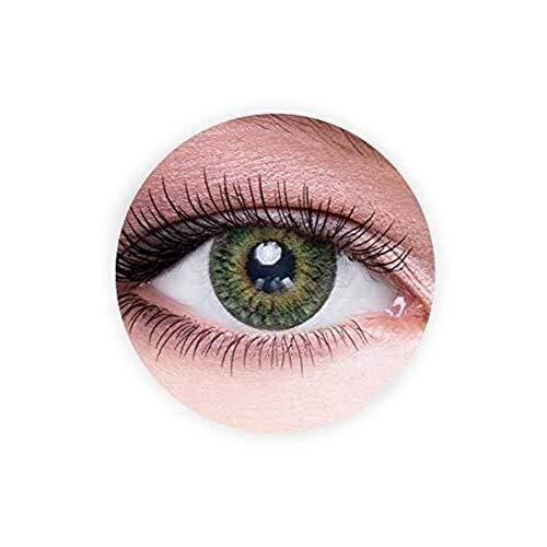 No logo Kontaktlinsen, Original-Unisex Dahab kosmetische Kontaktlinsen, 9 Monate Disposable- Augen Erweiterung Sammlung, Medusa (dunkelgrüne Farbe), 0.00 Dioptrien