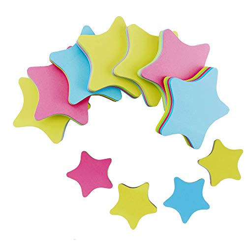 PRALB 20PACK Rainbow Star-Shaped Self Sticky Notes Self-Adhesive Sticky Note Cute Notepads 100 Sheets Per Pad.(20 Pack/Box, Star) Sticky Notes,Sticky Note Star,Cute Sticky Notes,Sticky Notepad,Star