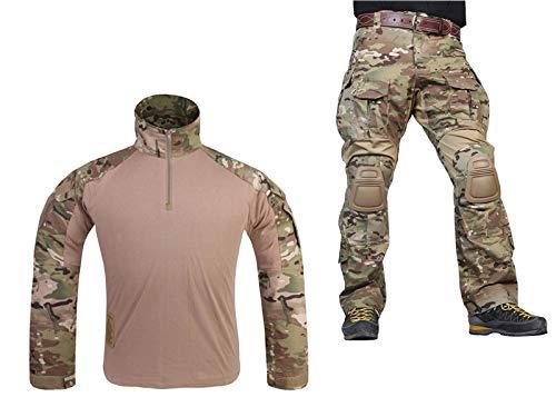 Paintball Equipment Tacticam bdu Emerson Combat G3 Uniform with Knee Pad Multicam MC L