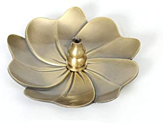 Multipurpose Stick/Cone/Coils Incense Holder/Sakura Shape Metal Coster, Incense Burner Plate with Detachable Calabash.