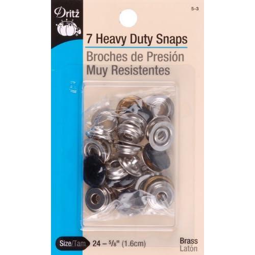 Amazon com: Dritz 5-3 Heavy Duty Snaps, Black, Size 24 (5/8