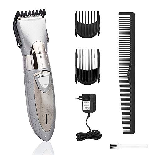 Hair Clippers for Men Waterproof Professional Hair Cutting Kit Cordless Rechargeable Hair Beard Trimmer with Limit Comb Best Gift for Father Husband Boyfriend,Silver