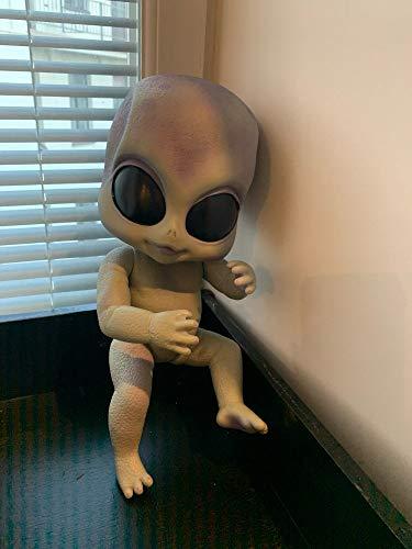 iCradle Muñeca Reborn Magic 14 Pulgadas Reborn Alien Baby Dolls Pintura Detallada de Vinilo a Mano Looks Muñeca de la Vida Real para niños
