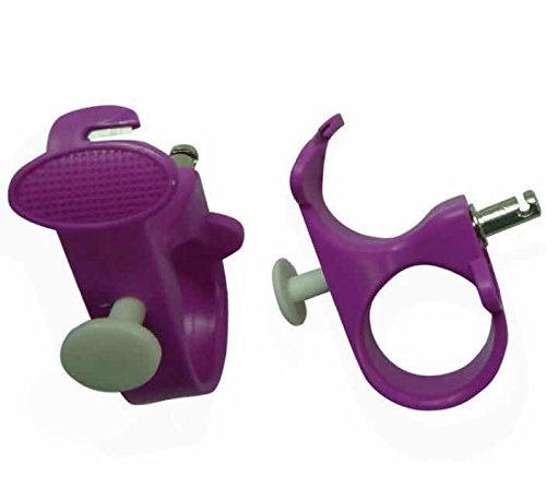 Needle Puller, 3 in 1 Thread Cutter Sewing Thimble Shielded Protector Pin Needles Quilting Craft Accessories DIY Sewing Tools(Purple)