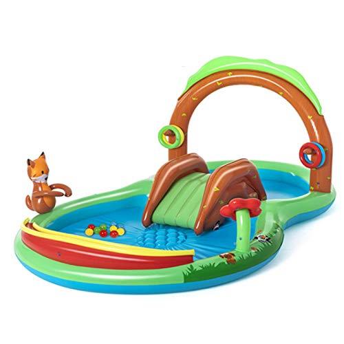 ZHENGRUI Piscinas Hinchables sobre Tierra Parque Acuático para Niños Seguro Parque Acuático para Niños Centro De Juegos De Agua para El Jardín Exterior