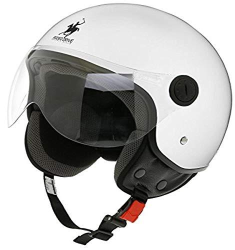 casco scooter integrale omologato Rodeo Drive RD104N Casco Moto Demi-Jet Sfoderabile