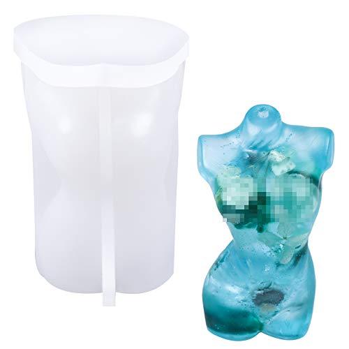 Molde de silicona 3D para mujer con forma de cuerpo sexy, modelado de corazón, torso femenino, cintura delgada, estatua corporal, jabón, adornos para manualidades, resina, decoración