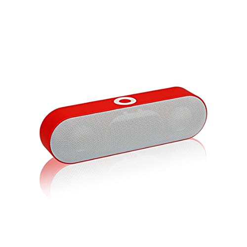 Sdesign Mini Bluetooth Speaker,Subwoofer Wireless Bluetooth Speaker Outdoor Mini Pill-Shaped Car Speaker,Built-in High-Definition Noise-Reduction Microphone,Support Two-Way Voice Call (Color : Red)
