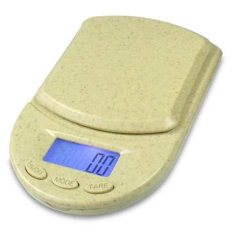 DIPSE ECO 650 Küchenwaage Digitalwaage Feinwaage | Ökologisch abbaubare Briefwaage | 650g x 0,1 Taschenwaage
